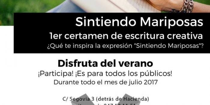 "1er Certamen de escritura creativa ""Sintiendo Mariposas"""