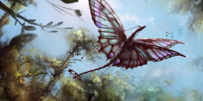 Dragones y mariposas, por Neo Hammer